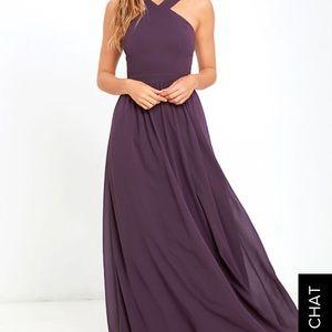 NWT Lulu's Purple Prom Dress